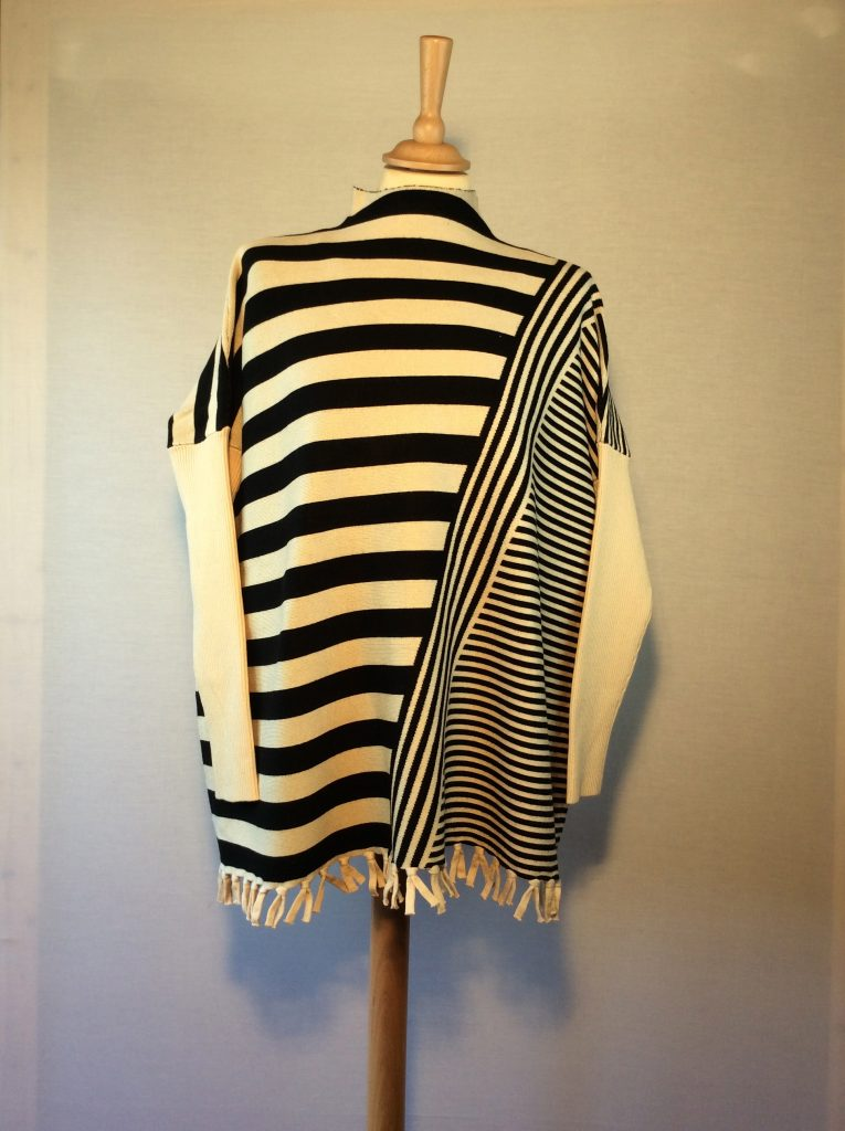 b464f9444ab Really Special Striped Sweater with Fringe Bottom in Cream and Black -  Seacracker